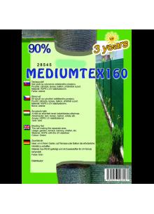 Belátásgátló, szélfogó és árnyékoló háló MEDIUMTEX 160 1,2x10m 90% / 28576