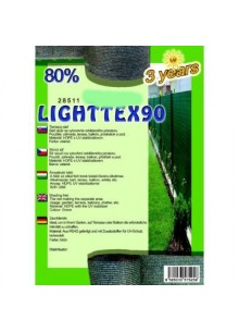 Belátásgátló, szélfogó és árnyékoló háló LIGHTTEX 90 1,2 m x 50 m 80% / 28575