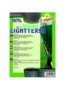 Belátásgátló, szélfogó és árnyékoló háló LIGHTTEX 90 2 m x 50 m 80% / 28543