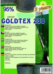 Belátásgátló, szélfogó és árnyékoló háló GOLDTEX 230 1,2 m x 10 m 95% / 28529