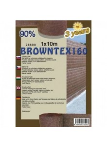 Belátásgátló, szélfogó és árnyékoló háló Browntex 160 1,5 m x 10 m 90% / 28593