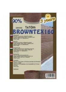 Belátásgátló, szélfogó és árnyékoló háló Browntex 160 1 m x 10 m 90% / 28591
