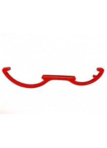 Acél kapocs kulcs ABC (piros)