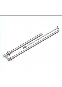 PVC pumpa 2db visszacsapó szeleppel 32/32-40-40 (húzószárral)