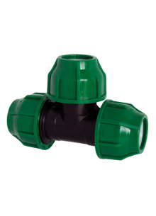 KPE MPE T idom 40 x 40 x 40 zöld 10 bar