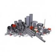PVC könyök, PVCív, PVC T idom, PVC szűkítő, PVC cső, PVC ragasztó