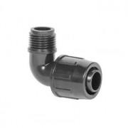 LPE PE  könyök idom külső menettel ppe,lpe,pe csövekhez és 16 20 mm  csepegtető csövekhez kedvező áron gyor szállítással.