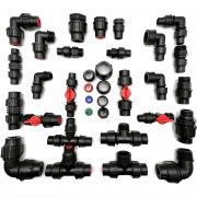 Variálható műanyag tokos  idomok DN16mm csőhöz